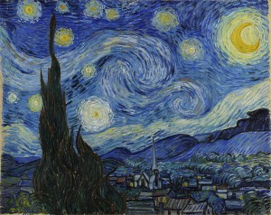 Starry Night by Vincent van Gogh, via Wikimedia Commons