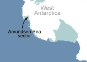 Glaciers melting in West Antarctica