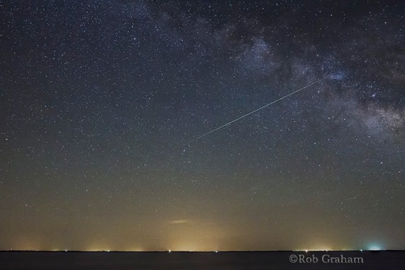 View larger. | Meteor captured 3:30 am on Sunday, May 4, 2014, over central Kansas. Photo by Rob Graham.  See more photos by Rob Graham.