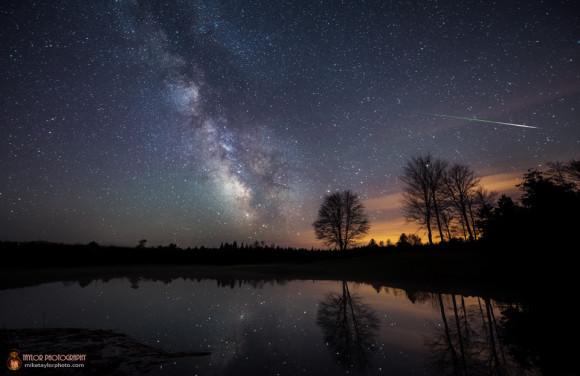 Eta Aquarid meteor captured on May 6, 2014 by Mike Taylor.  Visit Taylor Photography.