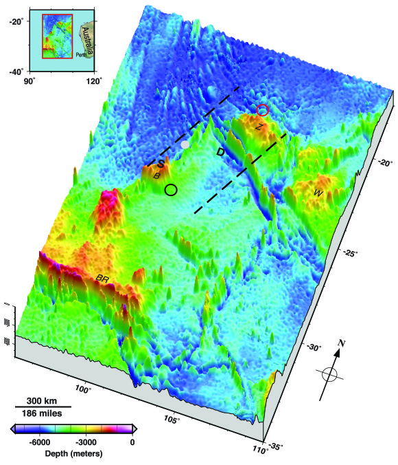 Ocean Floor Elevation Map : New image of seafloor zone where malaysia airlines flight