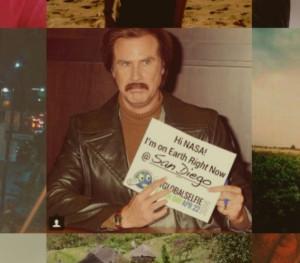 Will Ferrell?  Or his doppleganger.  Grabbed from NASA's global selfie.