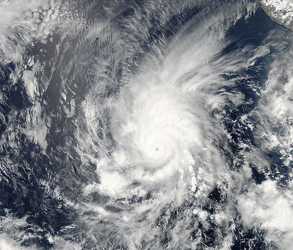 Hurricane Amanda in the Eastern Pacific on May 25, 2014. Image Credit: NASA