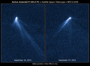 An asteroid with 6 wispy tails.
