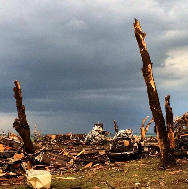 Destruction was left behind in the city of Pilger, Nebraska. Image Credit: Storm Invictus