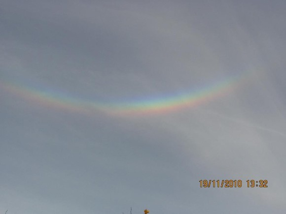 Here's that same circumzenithal arc from Andrew R. Brown again, minus the jet!