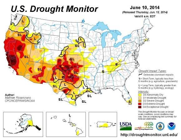 Via U.S. Drought Monitor
