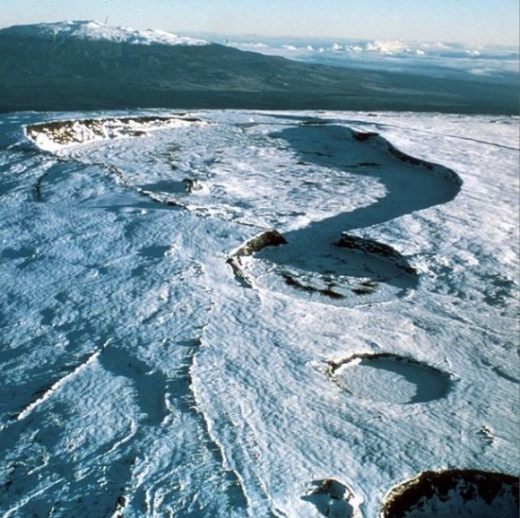 Mauna Loa volcano in Hawai'i via USGS