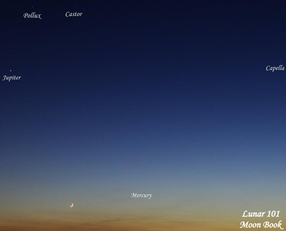 View larger. | Here is last night's sky - May 30, 2014.  Thank you Steven A. Sweet and Lunar 101-Moon Book.