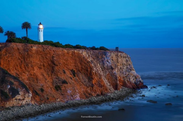 Lighthouse overlooking the Pacific, in Palos Verdes, California, by Forrest Boutin Photography.