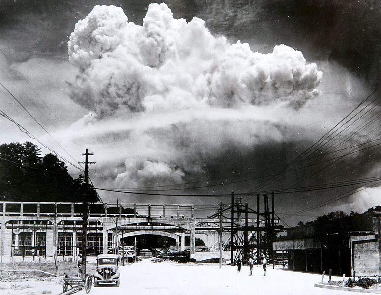 Atomic cloud over Nagasaki - August 9, 1945 - from Koyagi-jima by Hiromichi Matsuda via Wikimedia Commons