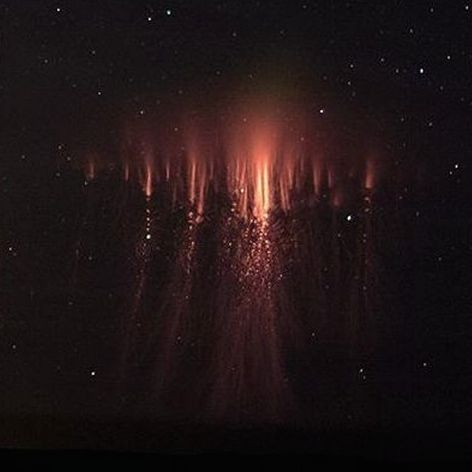 Large' 'jellyfish' sprite captured on June 23, 2014 by Thomas Ashcraft in New Mexico.  The sprite was over western Oklahoma, but Ashcraft caught it from his observatory in New Mexico, 289 miles away.  Used with permission.