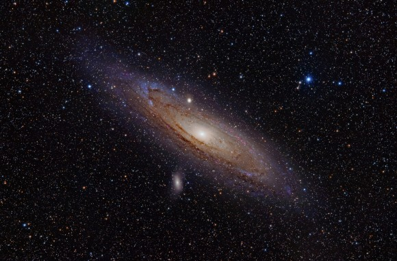 An image of the Andromeda galaxy, Messier 31.  Image credit: Adam Evans