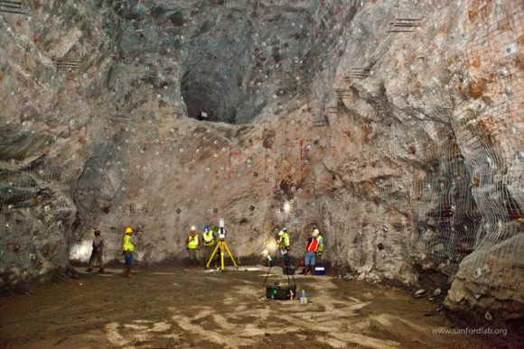 The LUX-ZEPLIN dark-matter search will be located deep underground in a goldmine in South Dakota. (Courtesy: Matthew Kapust/Sanord Underground Research Facility)