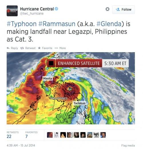 Typhoon Rammasun-7-15-2014-tweet