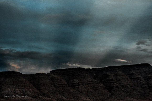 View larger. | Anticrepuscular rays - seen in the east at sunset - in Nevada.  Shreenivasan Manievannan posted this photo on EarthSky Facebook in July 2014.  Visit Shreeniclix Photography.