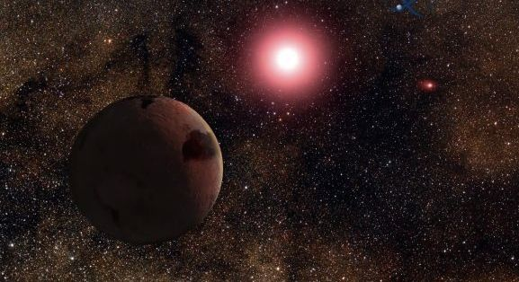 Artist's concept of planet orbiting in double star system, via Ohio State University.