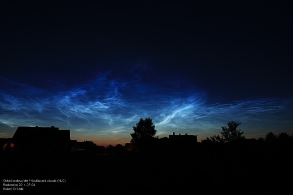 Another photo by Hubert Drozdz of the July 3 noctilucent clouds.