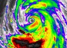 Super Typhoon Neoguri in false color on July 7, 2014