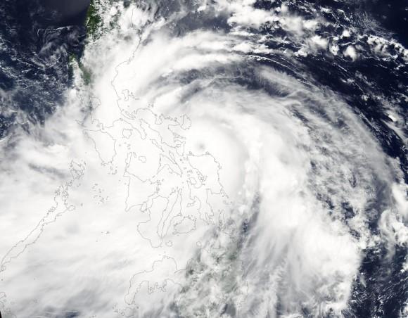 Typhoon Rammasun via NASA