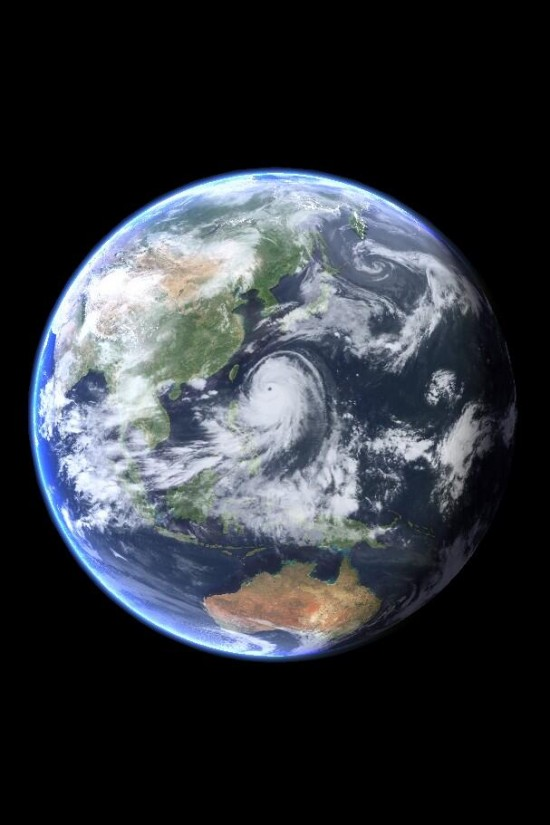 Super Typhoon Neoguri is huge.  Here it is on July 7, 2014, via NASA satellite