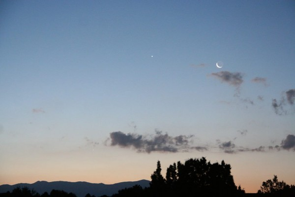 July 24, 2014 moon and Venus by Dinh Nguyen.