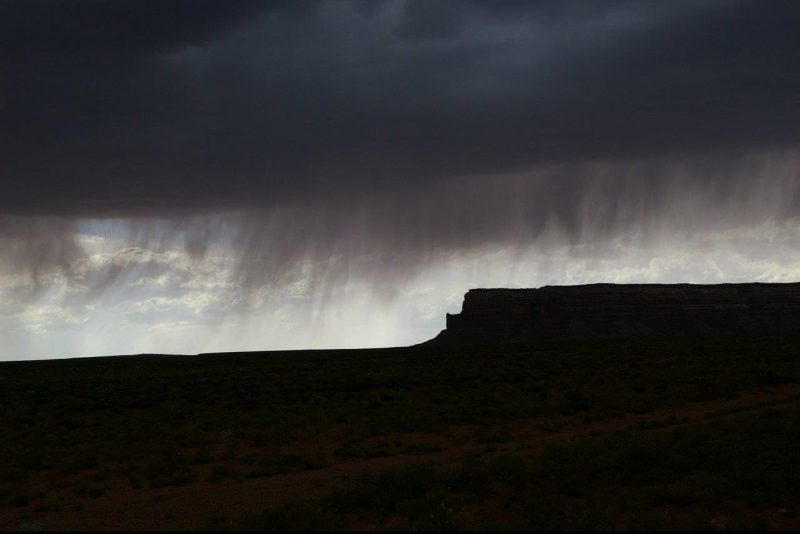 Ron Ratliff caught this virga near Mexican Hat, Utah.