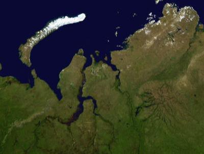Yamal peninsula in northern Siberia via Wikimedia Commons