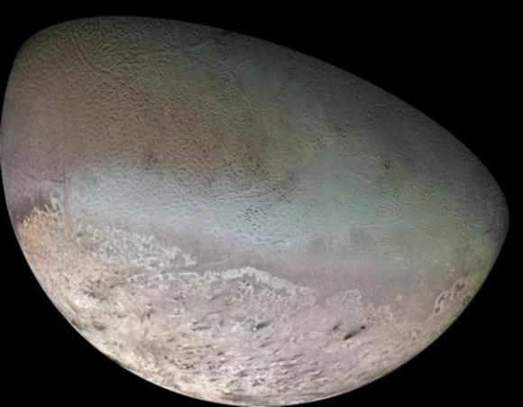 Voyager 2 mosaic of Triton.