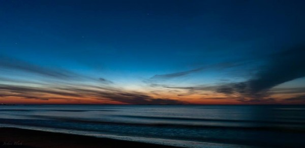 Blue hour over the Atlantic by Josh Blash in Hampton, New Hampshire.  Photo taken April, 2013.