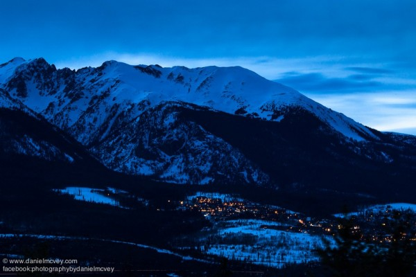 Blue hour over Silverthorne, Colorado by Daniel McVey