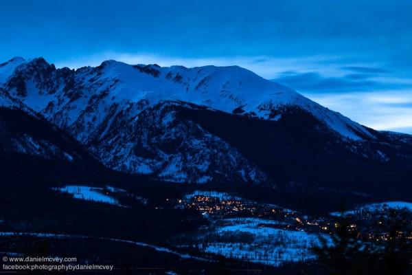 Blue hour over Silverthorne, Colorado by Daniel McVey