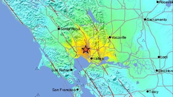 A 6.0-magnitude earthquake rocked the San Francisco Bay area early Sunday morning.  The epicenter was 6 kilometers (about 4 miles) NW of American Canyon.