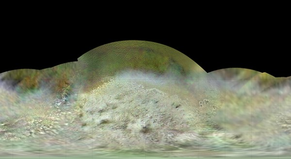 When the Voyager 2 spacecraft flew by Neptune in the summer of 1989. it captured images of Neptune's large moon Triton.  Now space scientists have released this new map of Triton, based on those 1989 images.  Credit: NASA/JPL-Caltech/Lunar & Planetary Institute
