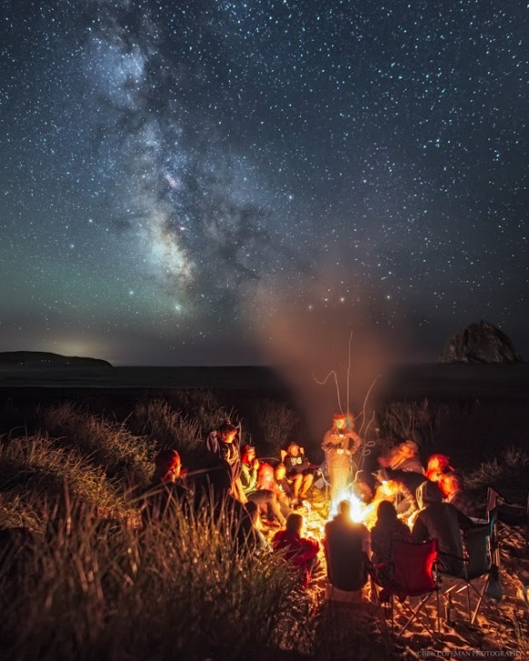 Campfire under the Milky Way by Ben Coffman Photography.   Visit Ben Coffman on G+.