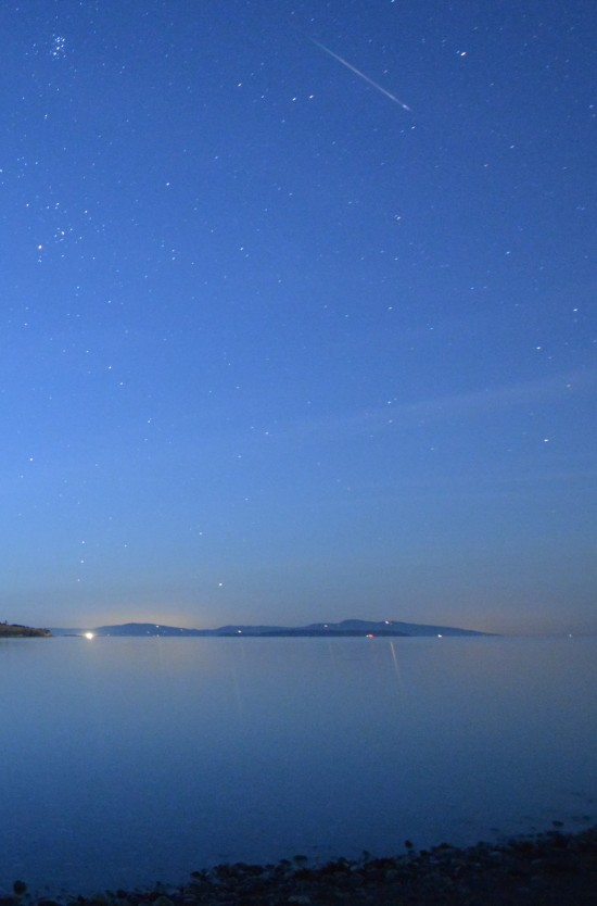 James Younger in Saanichton, British Columbia, Canada caught this Perseid meteor on August 9, 2014.