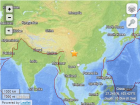 Location of the 6.1 quake in China. Image Credit: USGS