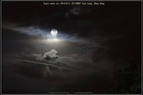 August 10 supermoon from Hong Kong by Matthew Chin.