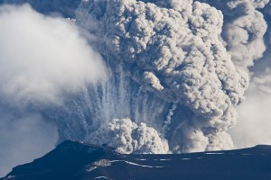 This is not Baroarbunga, but it's what a volcano that's spewing a lot of ash into the atmosphere looks like.  Image via Aviation Safety Institute