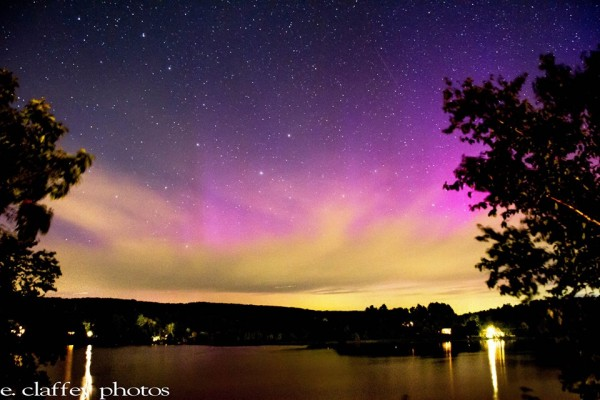 Eileen Claffey in Massachusetts caught this shot of the September 12 aurora