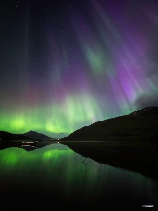 Gibfoto in Norway caught this beautiful shot of last night's aurora - September 12, 2014 - from Norway.