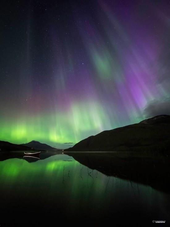 Gibfoto in Norway caught this beautiful shot of last night's aurora - September 12, 2014 - from Norway.