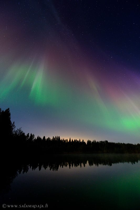 Salamapaja, aka Thomas Kast, captured the September 12 aurora in Finland.