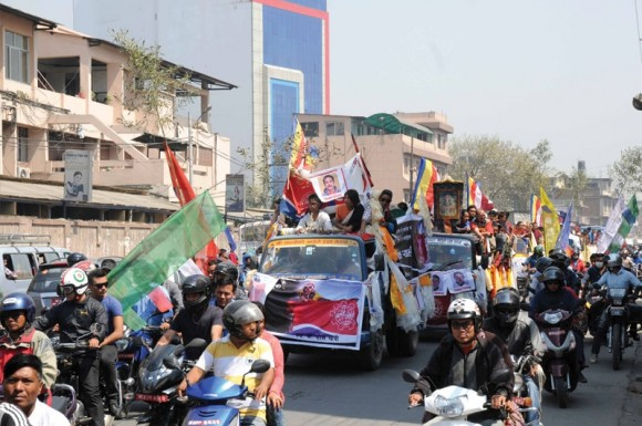 A funeral procession in Kathmandu for one of the Sherpas killed in an April avalanche on Mount Everest. Photo credit: Nepal Mountaineering Association