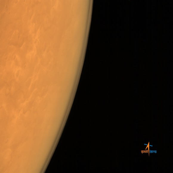 India's Mars Orbiter Mission (MOM) captured this image of the