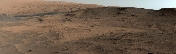 This southeastward-looking vista from the Mast Camera (Mastcam) on NASA's Curiosity Mars rover shows the