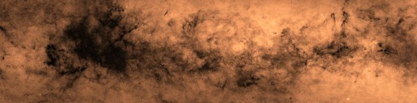 View larger. | This new map shows the density of objects within our Milky Way galaxy. It's a small section of a larger map, but it shows in exquisite detail the complex patterns of obscuration in the galaxy, due to interstellar dust.  Image via Hywel Farnhill, University of Hertfordshire.