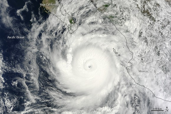 Hurricane Odile on September 14, 2014. Image Credit:  Jeff Schmaltz, LANCE/EOSDIS Rapid Response