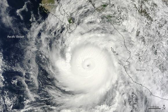 Hurricane Odile on September 14, 2014. Image Credit:  Jeff Schmaltz, LANCE/EOSDIS Rapid Response