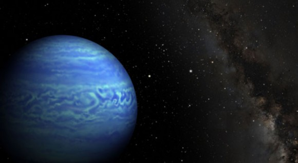 This artist's conception shows the object named WISE J085510.83-071442.5. Imabe courtesy of NASA/JPL-Caltech/Penn State University